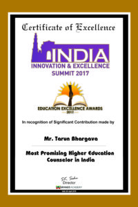 Most Promising Higher Education Counselor in India